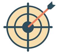 Target with arrow hit the bull's-eye